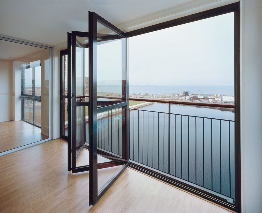 Accordion Glass Doors : Solarlux bifold doors low maintenance aluminium or timber