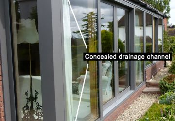 Concealed intergrated drainage downpipe