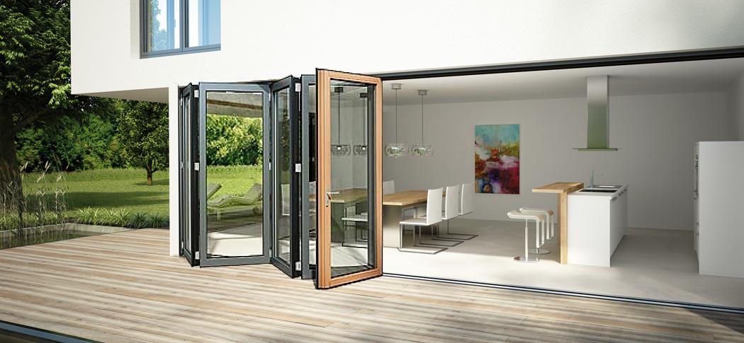 Solarlux SL97 Passivhaus Bifold Doors in timber/aluminium ...