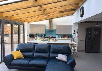 Soalrlux Avantgarde Roof in Oak and Aluminium